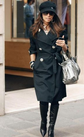 Eva Longoria en shopping à Paris avec son sac Gerard Darel