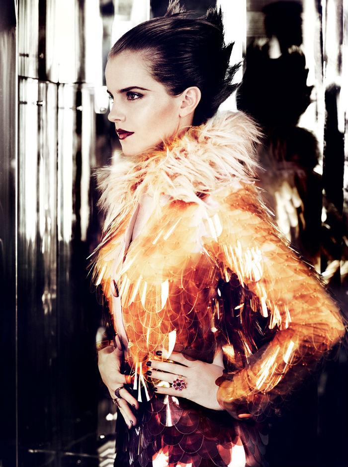 emma watson photographiée par mario testino pour Vogue US