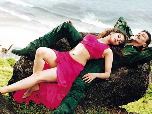 Urmila Matondkar Rangeela, habillée par manish Malhotra