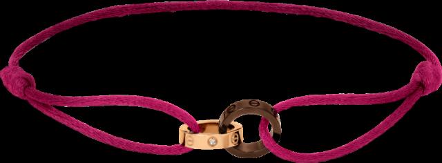 bracelet en soie cartier - love charity bracelet