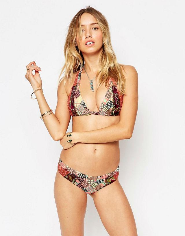 Maaji - Bikini dos nu à motif patchwork