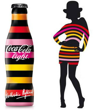 Bouteilles de coca cola light édition limitée nathalie rykiel