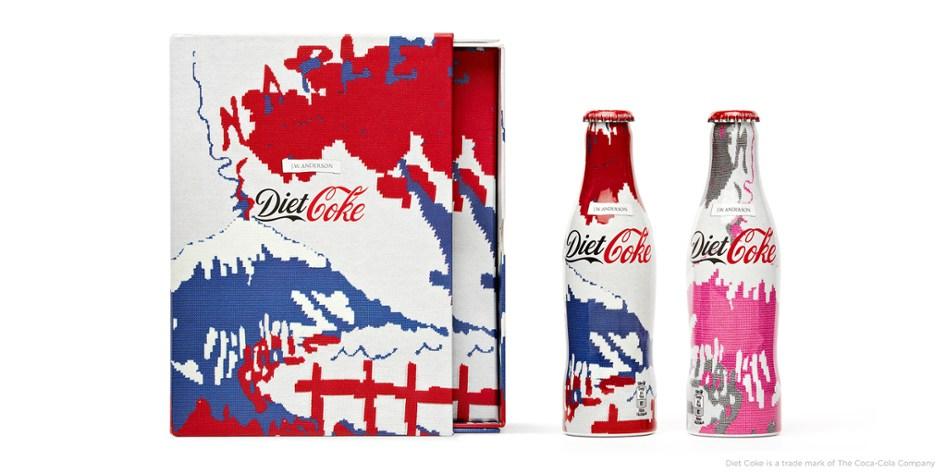Bouteilles de coca cola light édition limitée matthew williamson