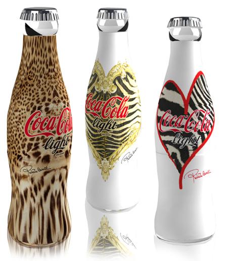 Bouteilles de coca cola light édition limitée roberto cavalli
