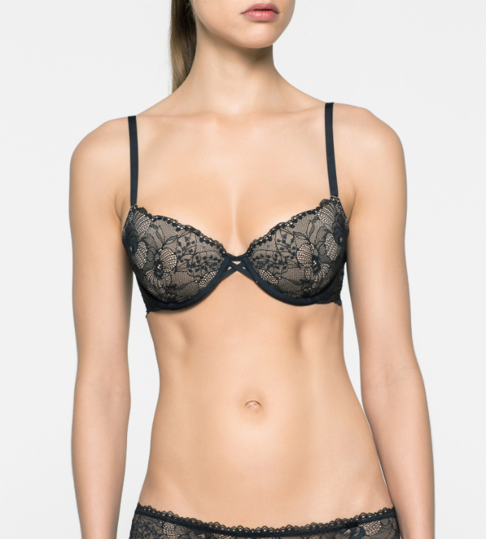 Soutien-gorge push-up - CK Black