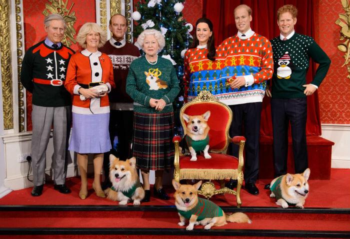 famille royale au musée tussauds de londres
