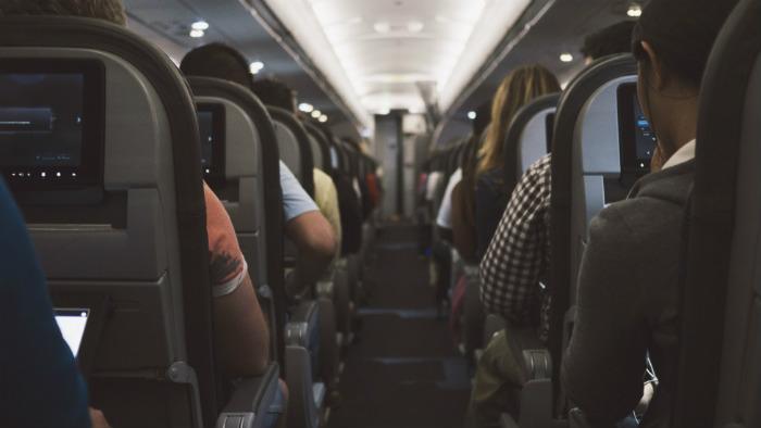 intérieur cabine d'avion