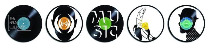 sculptures sur disques vinyles