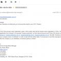 Arnaque email enregistrement noms de domaine chinois